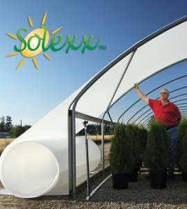 Solexx Greenhouse Covering is easy to apply to a hoop house.